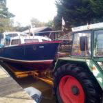 Boot uit water